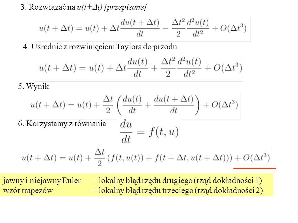3. Rozwiązać na u(t+Dt) [przepisane]
